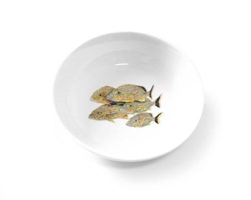 Dinnerware Artist Kim Rody/'s Pelican Big Dipper 5\u201d round bowl